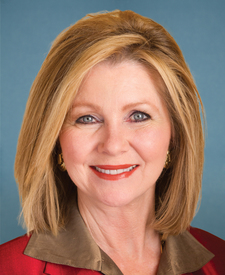Sen. Marsha Blackburn's' portrait.